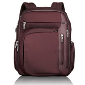 Burgundy colored laptop backpack