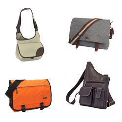 Selection of messenger bags