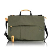 Green messenger laptop bag
